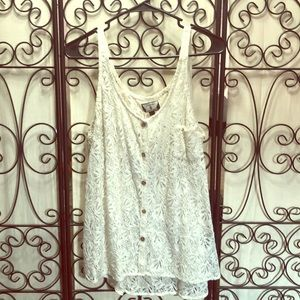 Lace Volcom button up tank